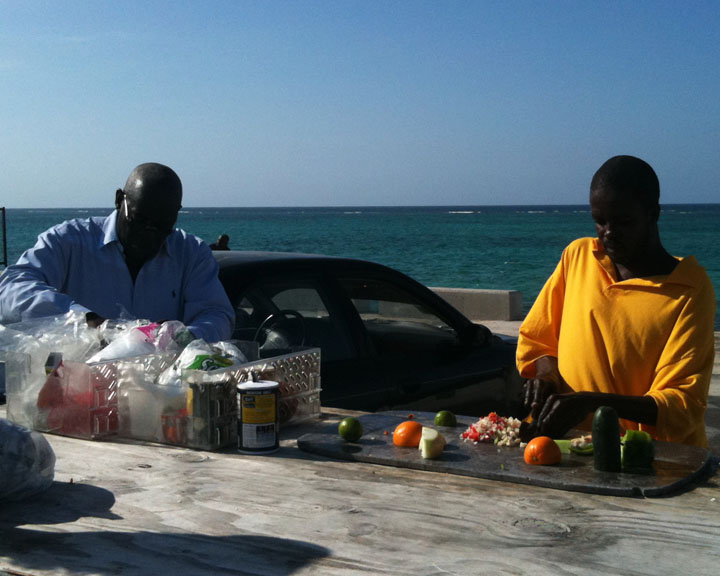 One of my favorite things is getting fresh conch salad.